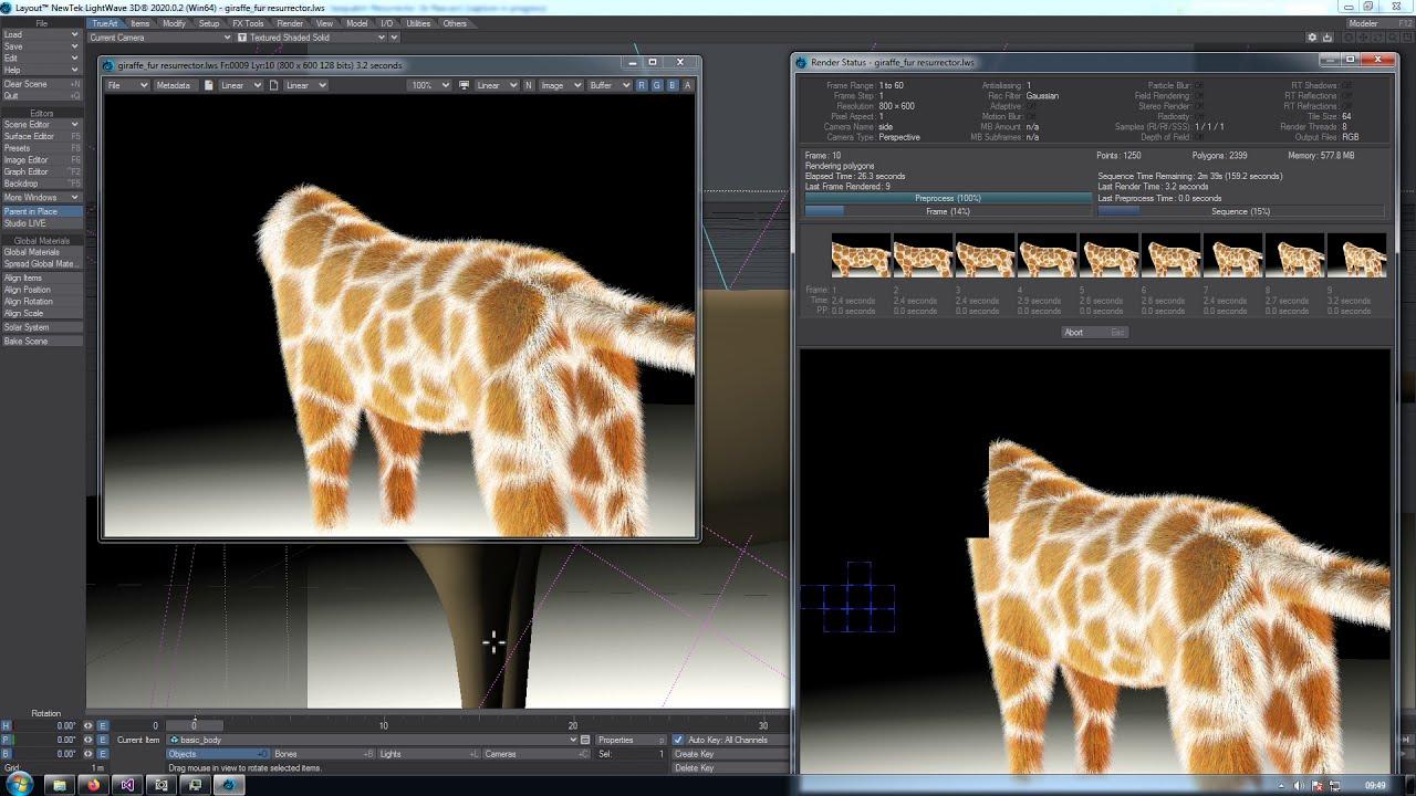 Nome: TrueArt LightWave 3D Plug-In Sasquatch Resurrector Giraffe Full HD video.jpg Visite: 440 Dimensione: 167.1 KB